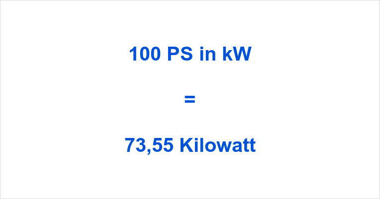 100 PS in kW