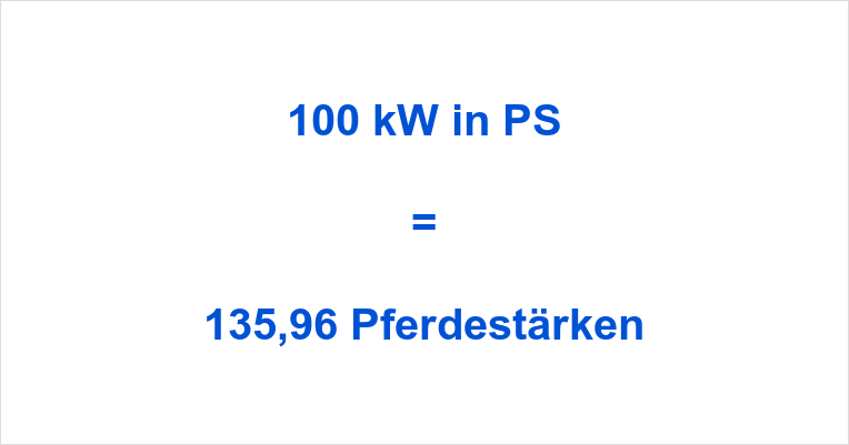 100 kW in PS