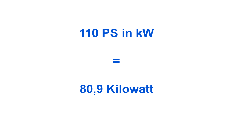 110 PS in kW