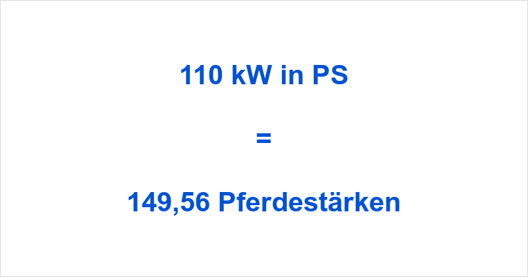 110 kW in PS