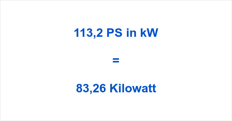 113,2 PS in kW