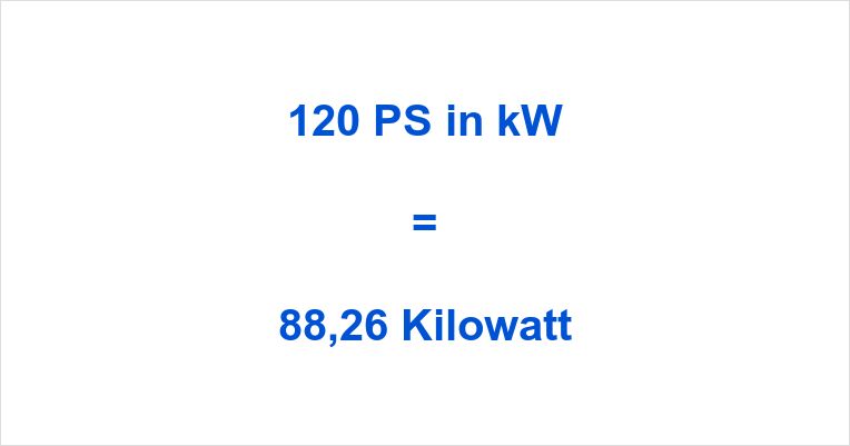 120 PS in kW