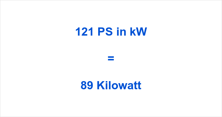 121 PS in kW