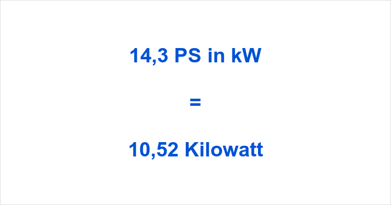 14,3 PS in kW