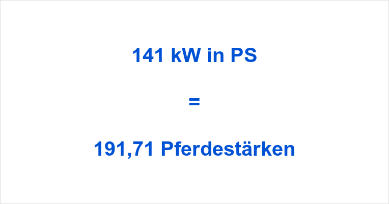 141 kW in PS