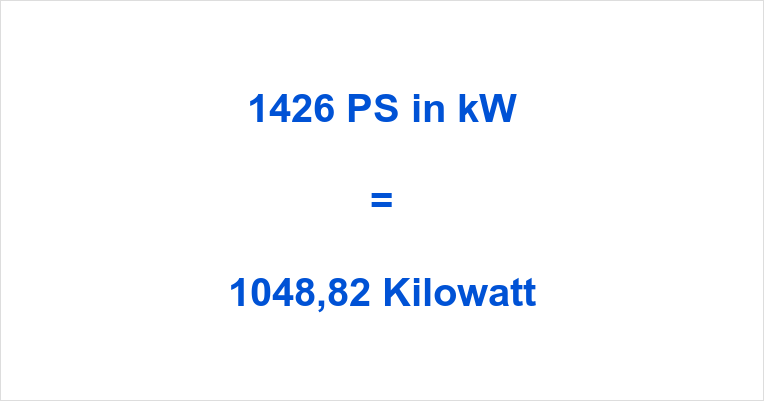 1426 PS in kW