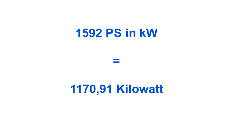 1592 PS in kW