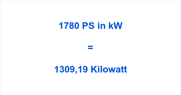 1780 PS in kW