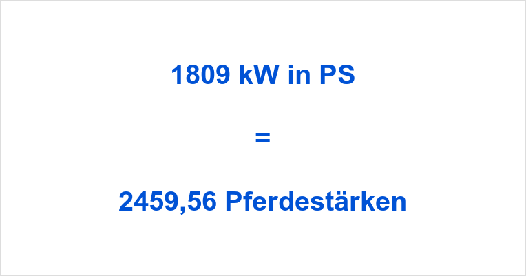 1809 kW in PS
