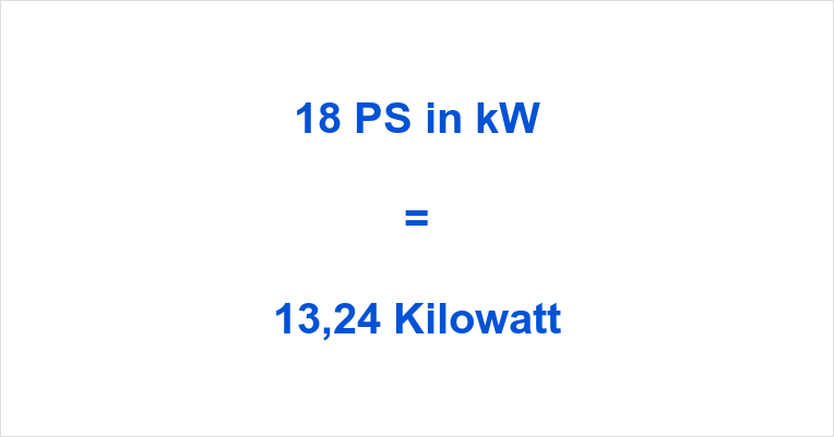 18 PS in kW