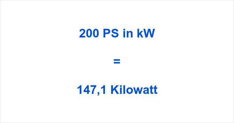 200 PS in kW