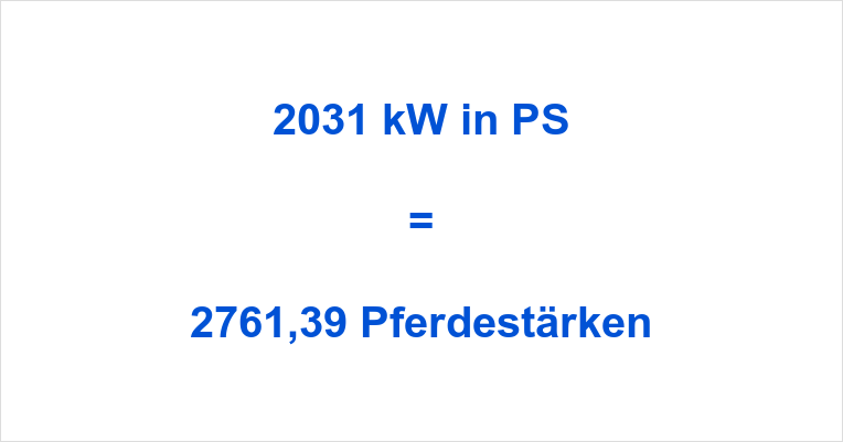 2031 kW in PS