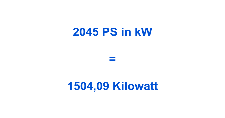 2045 PS in kW