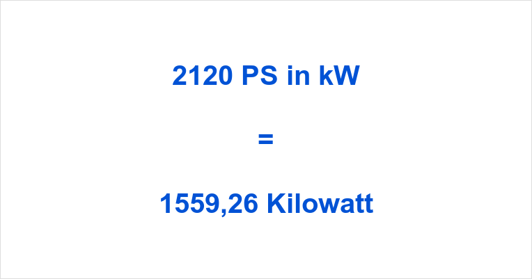 2120 PS in kW