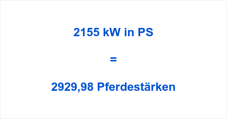 2155 kW in PS
