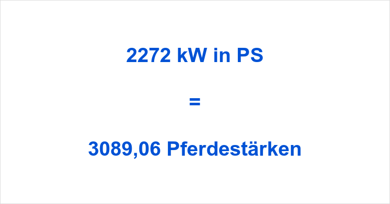 2272 kW in PS