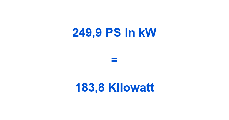 249,9 PS in kW
