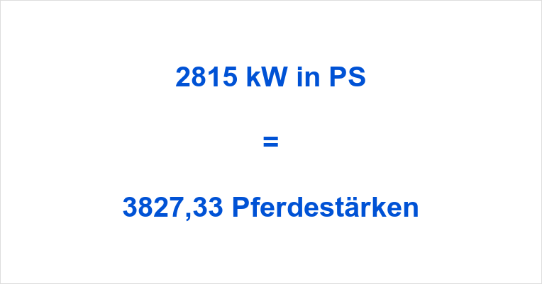2815 kW in PS
