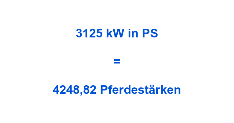 3125 kW in PS