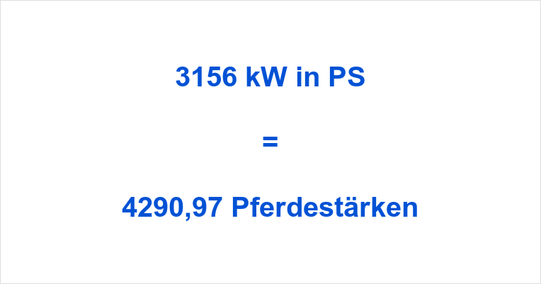 3156 kW in PS