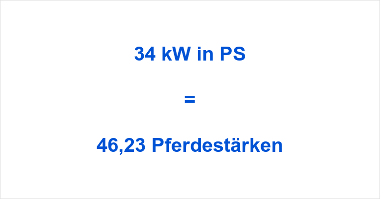 34 kw in ps