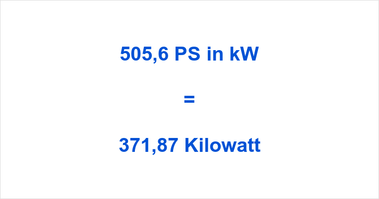 505,6 PS in kW