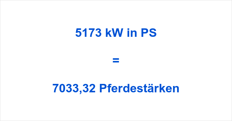5173 kW in PS
