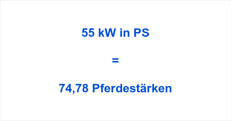 55 kW in PS