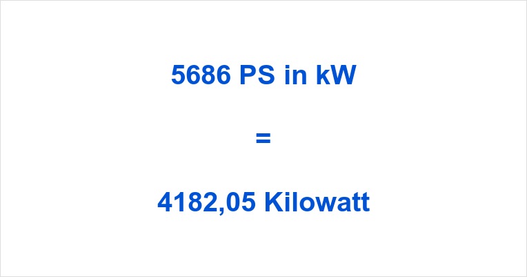 5686 PS in kW