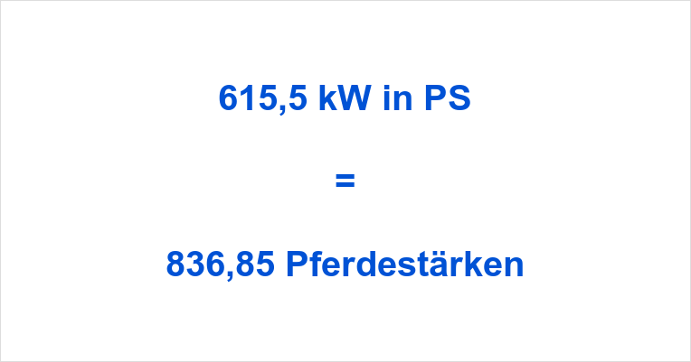 615,5 kW in PS