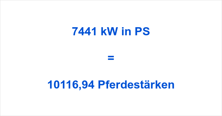 7441 kW in PS