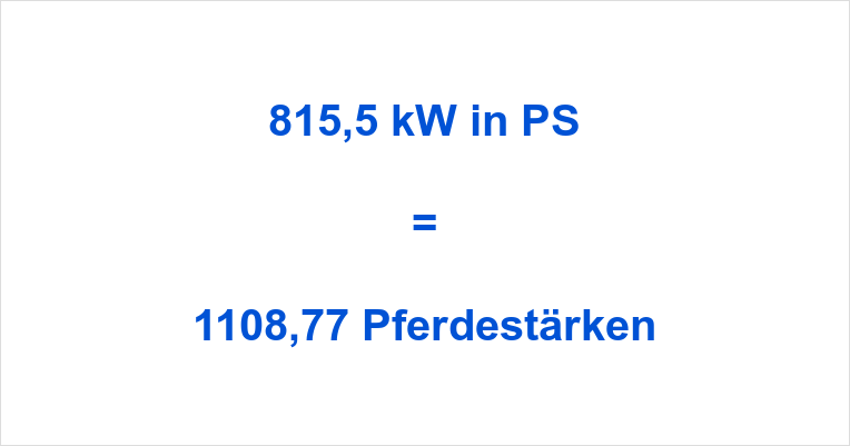 815,5 kW in PS