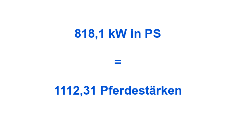 818,1 kW in PS