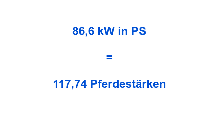 86,6 kW in PS