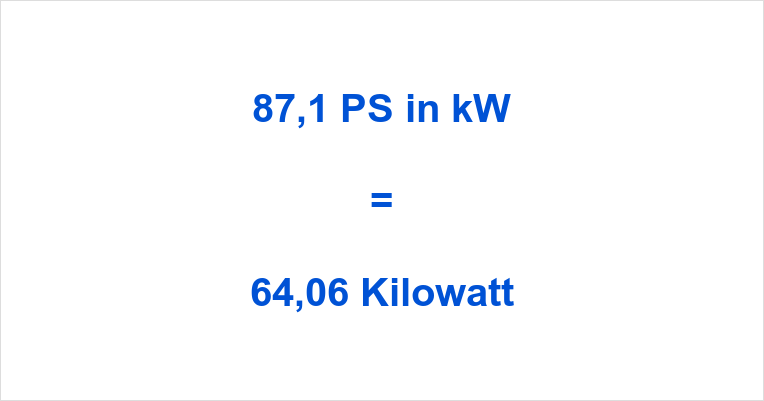 87,1 PS in kW