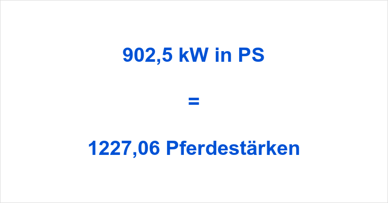 902,5 kW in PS