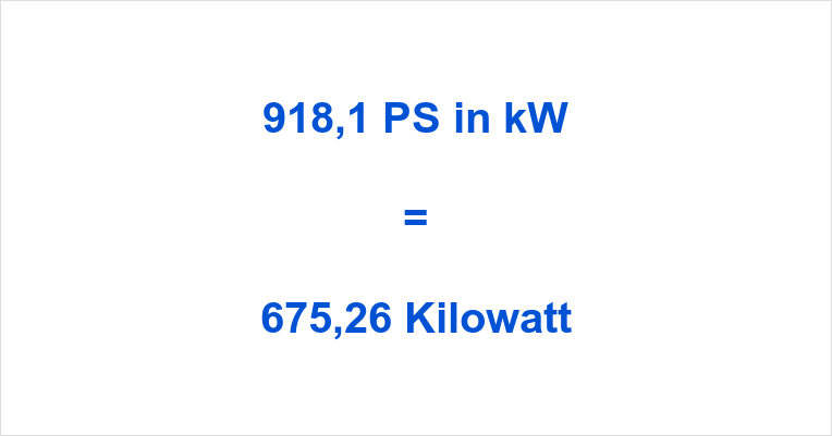 918,1 PS in kW